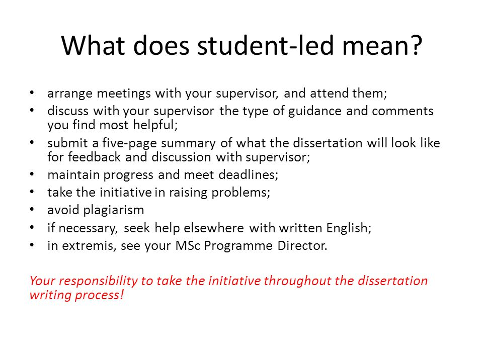 What does student-led mean