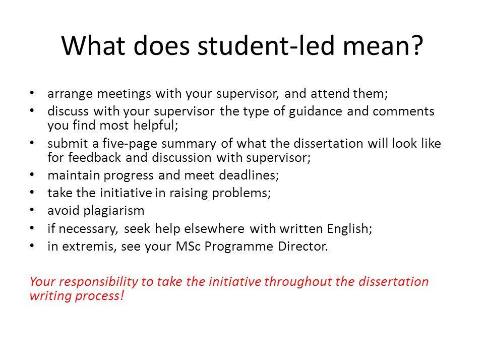 dissertation supervisor role