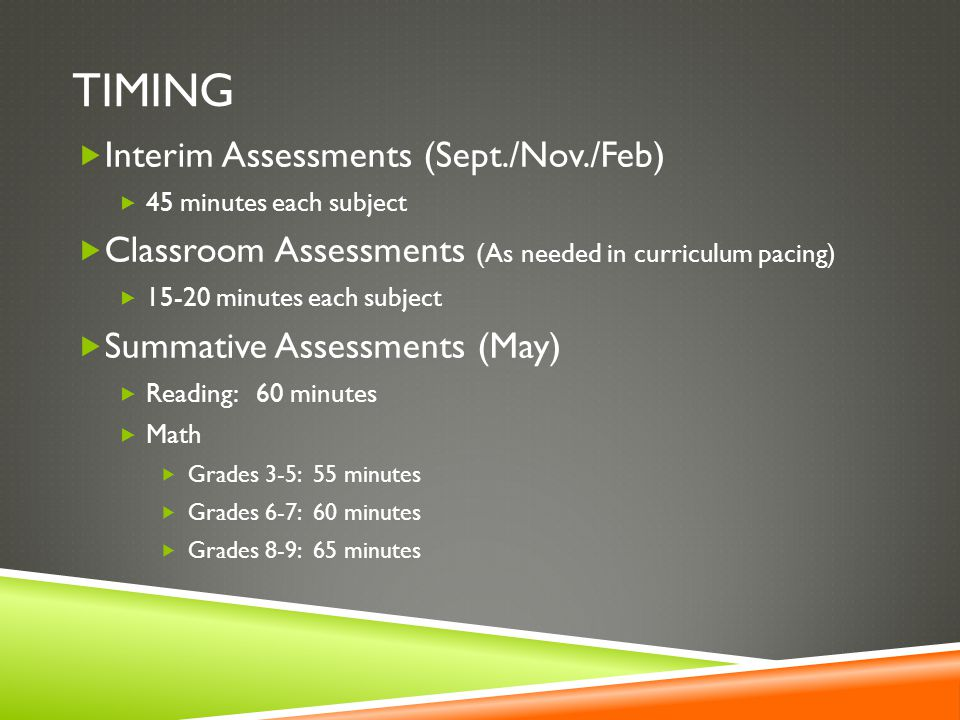 Timing Interim Assessments (Sept./Nov./Feb)