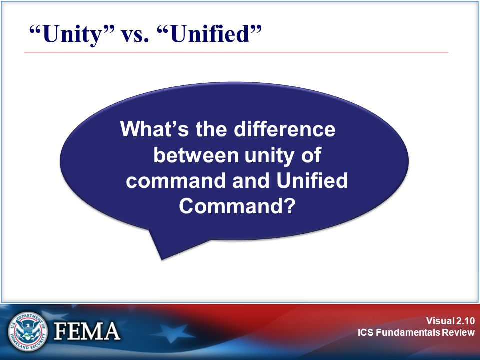 What's the difference between unity of command and Unified Command