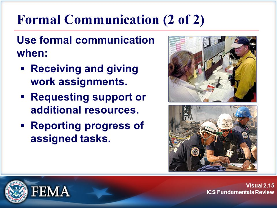 Formal Communication (2 of 2)