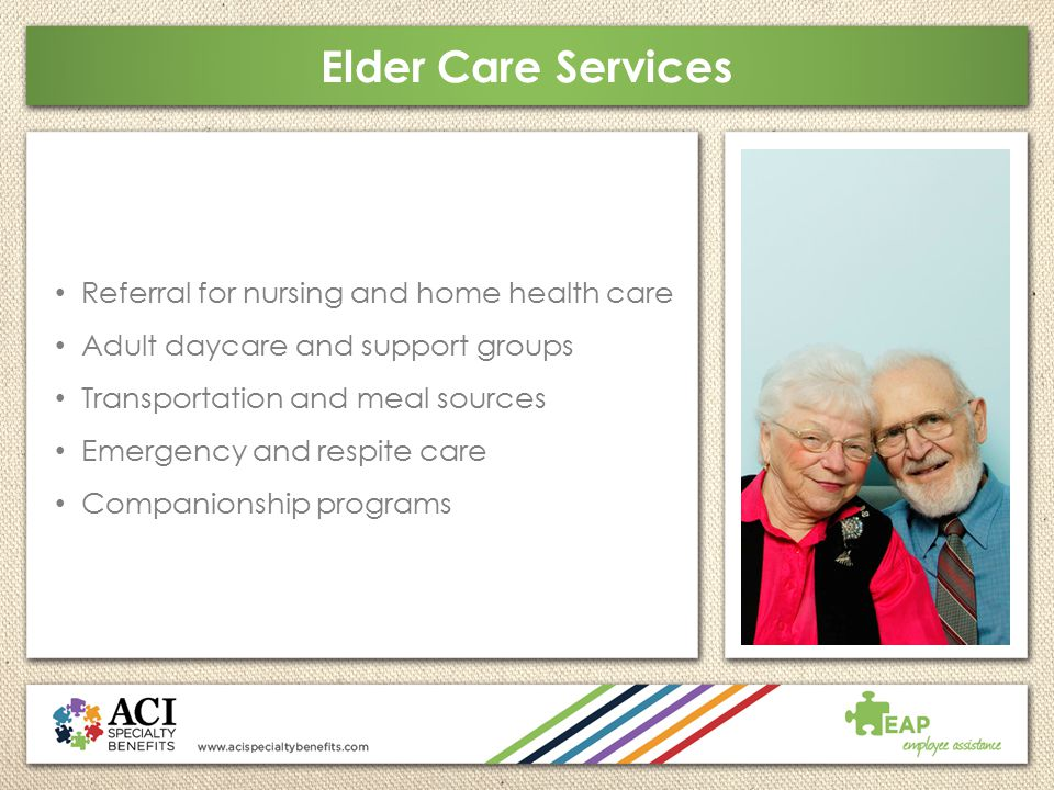Elder Care Services Referral for nursing and home health care