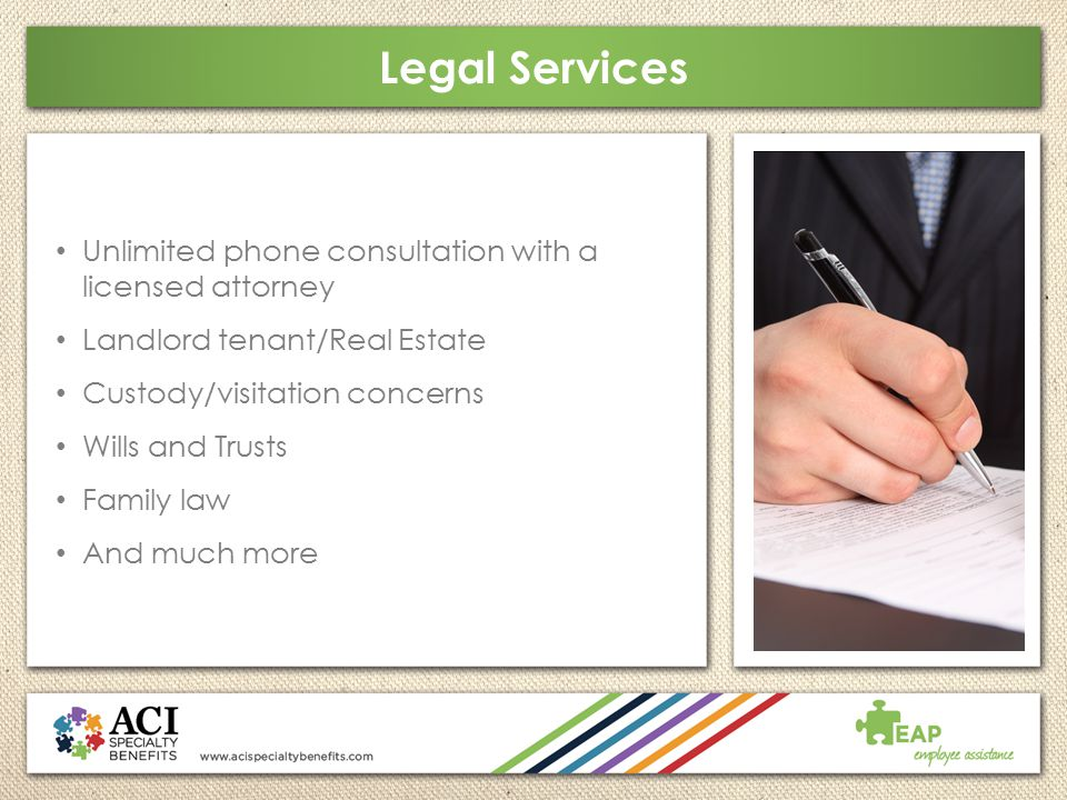 Legal Services Unlimited phone consultation with a licensed attorney