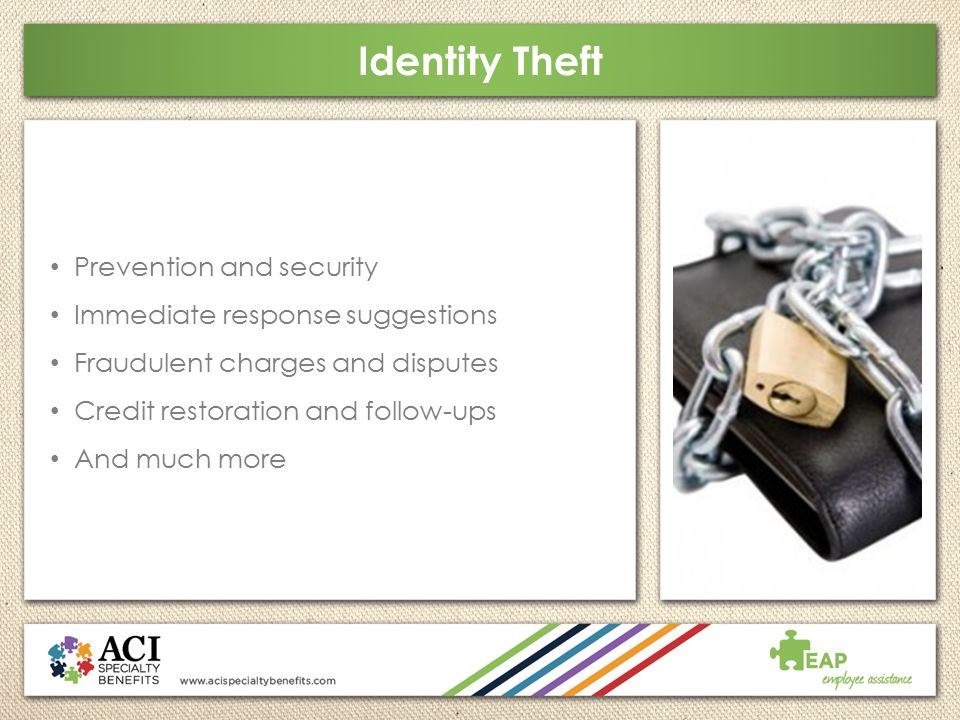 Identity Theft Prevention and security Immediate response suggestions