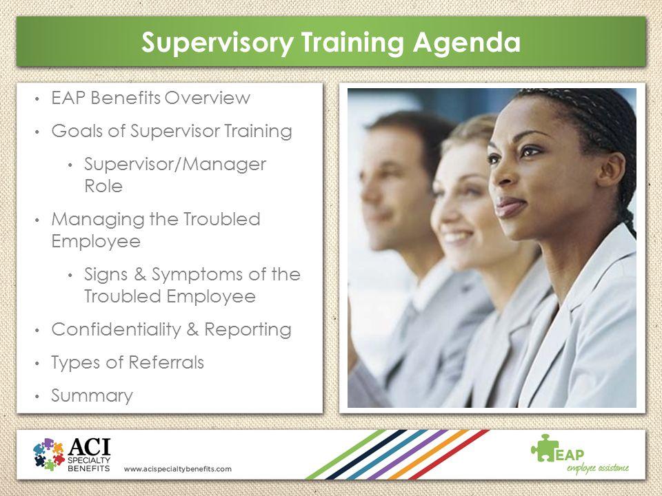 Supervisory Training Agenda