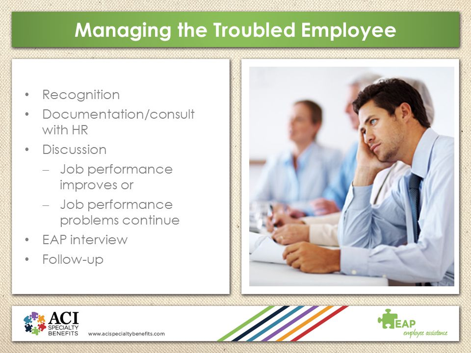 Managing the Troubled Employee