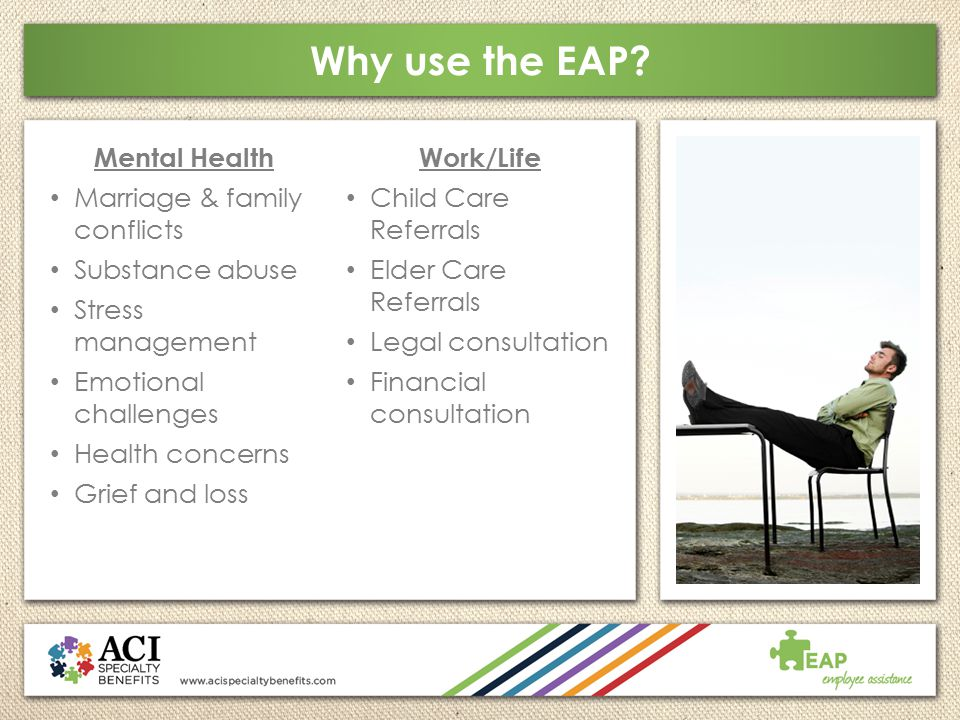 Why use the EAP Mental Health Marriage & family conflicts