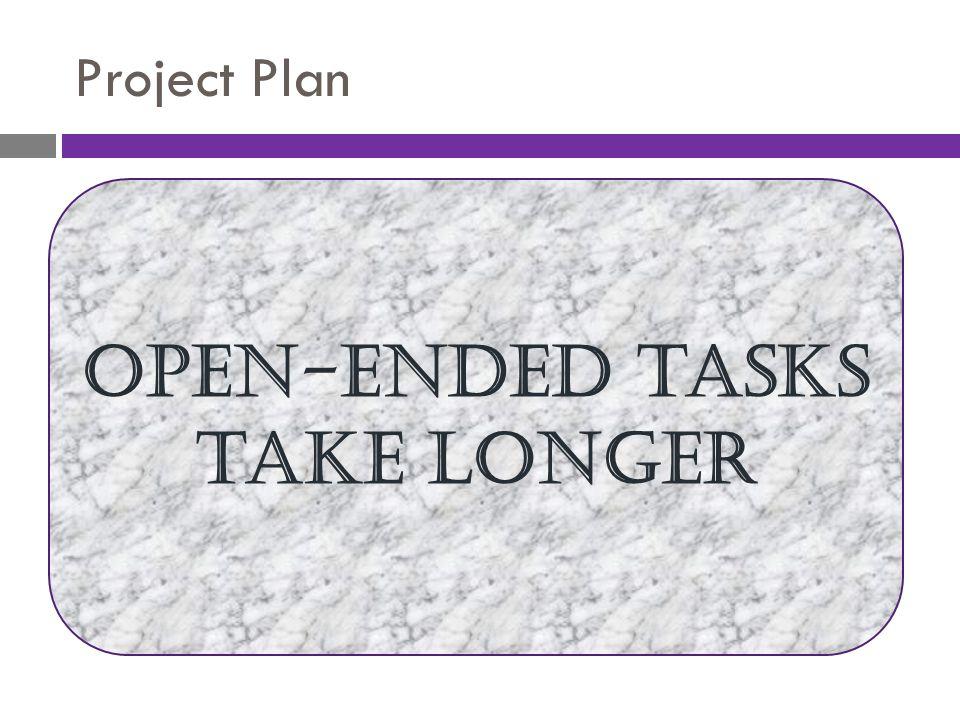 Open-ended tasks take longer