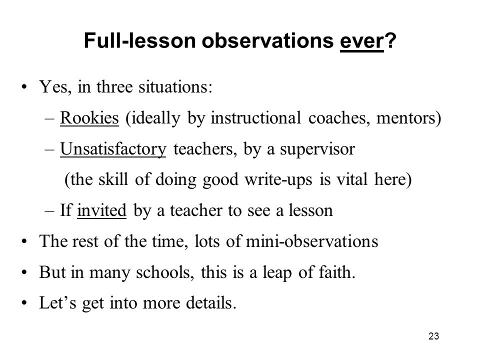 Full-lesson observations ever