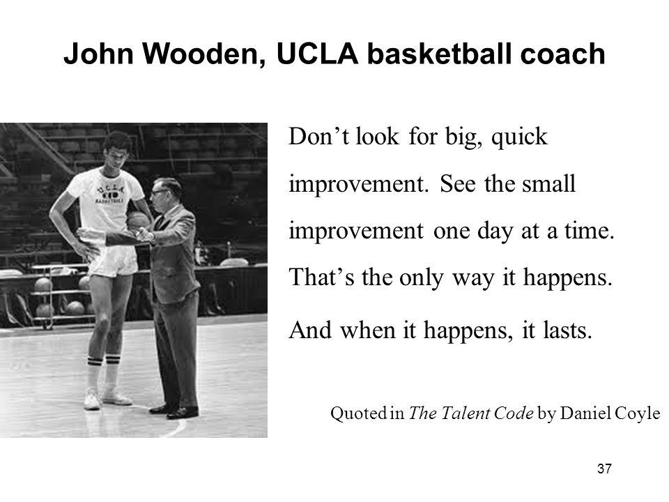 John Wooden, UCLA basketball coach