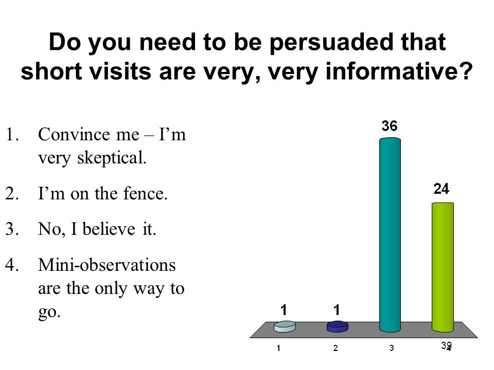 Do you need to be persuaded that short visits are very, very informative