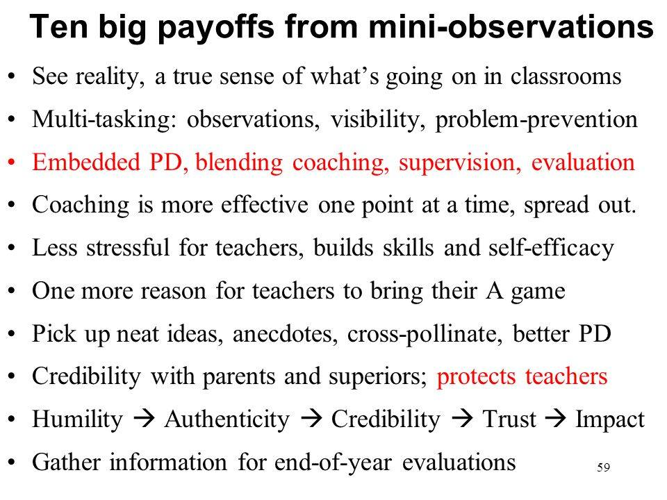 Ten big payoffs from mini-observations