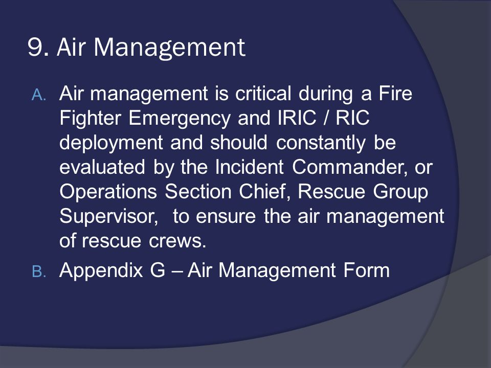 9. Air Management