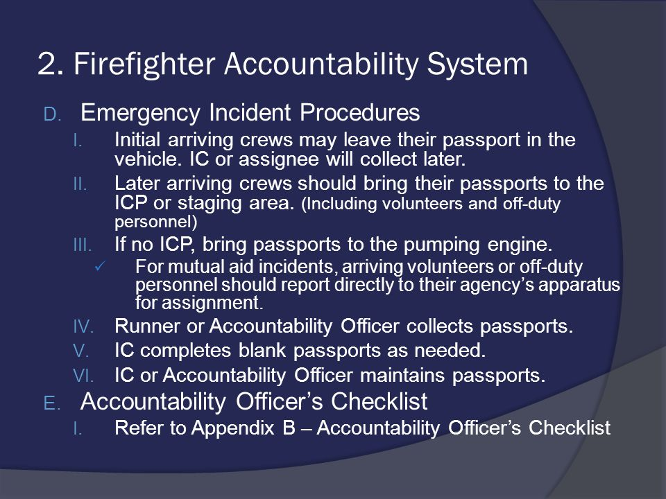 2. Firefighter Accountability System