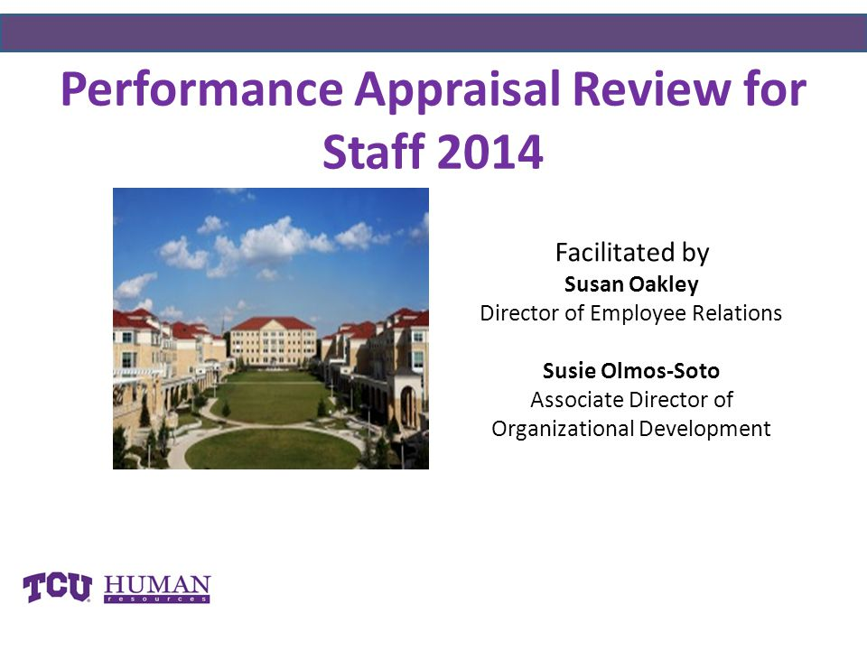 Performance Appraisal Review for Staff 2014