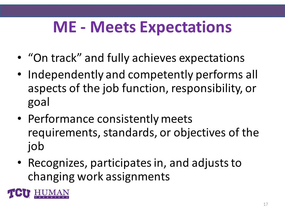 ME - Meets Expectations