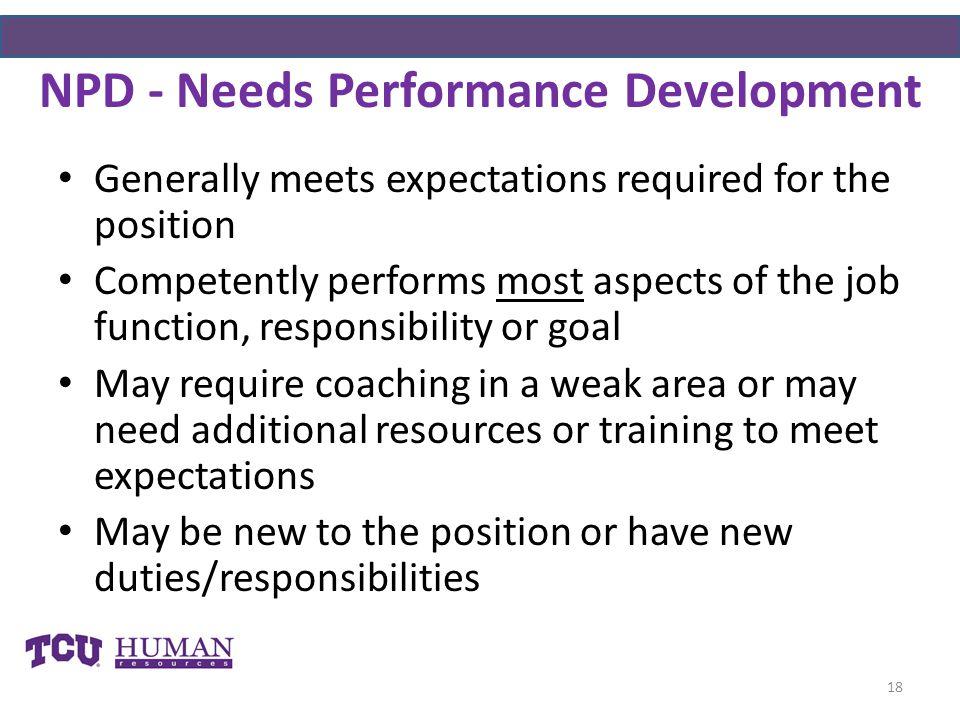 NPD - Needs Performance Development