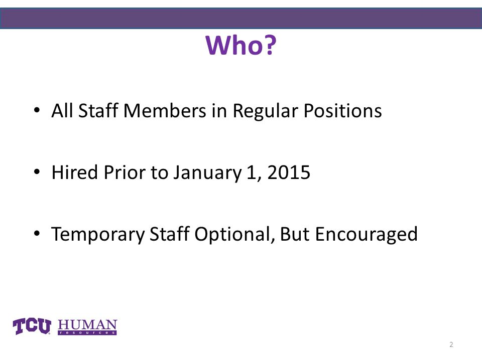 Who All Staff Members in Regular Positions