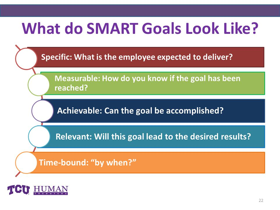 What do SMART Goals Look Like
