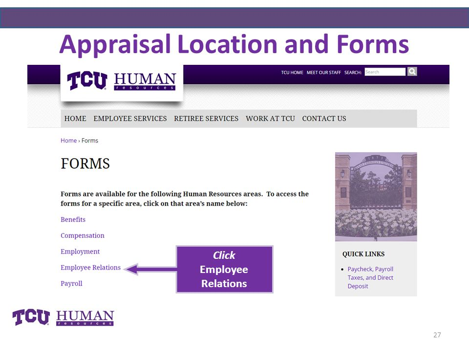 Appraisal Location and Forms