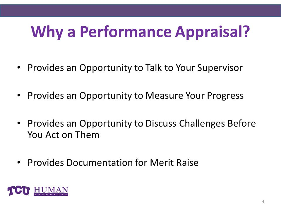 Why a Performance Appraisal
