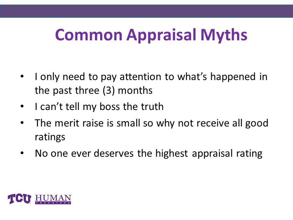 Common Appraisal Myths