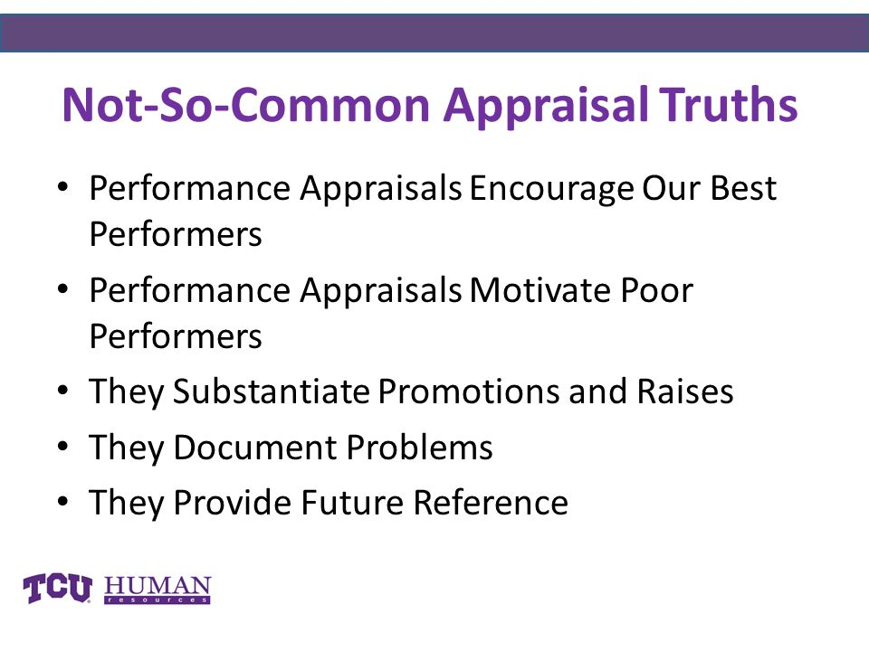 Not-So-Common Appraisal Truths