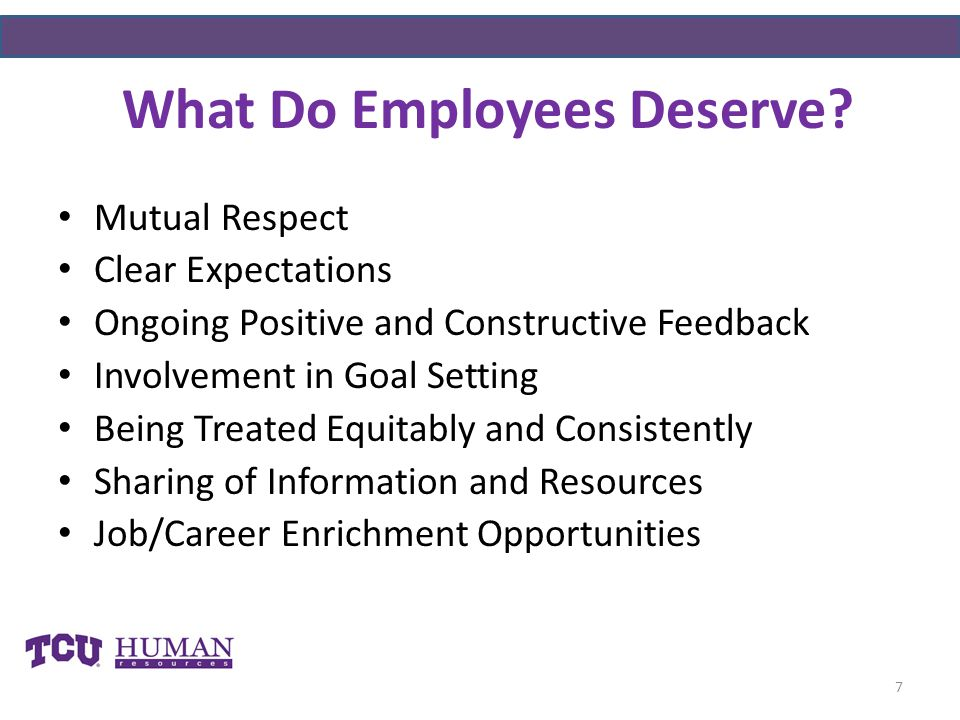 What Do Employees Deserve