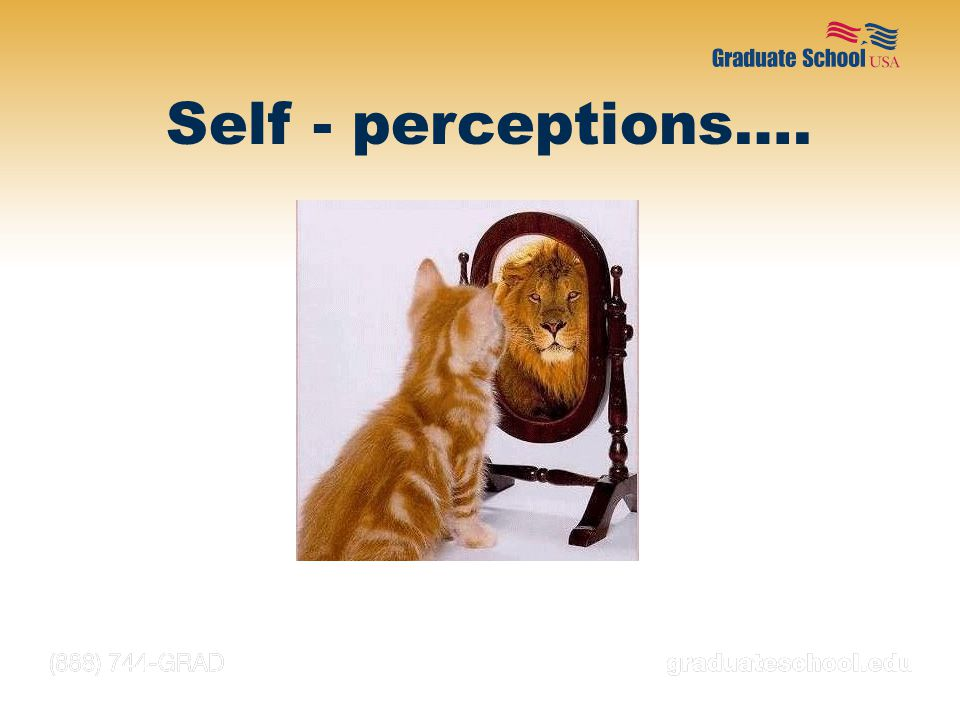 Self - perceptions…. NOTES