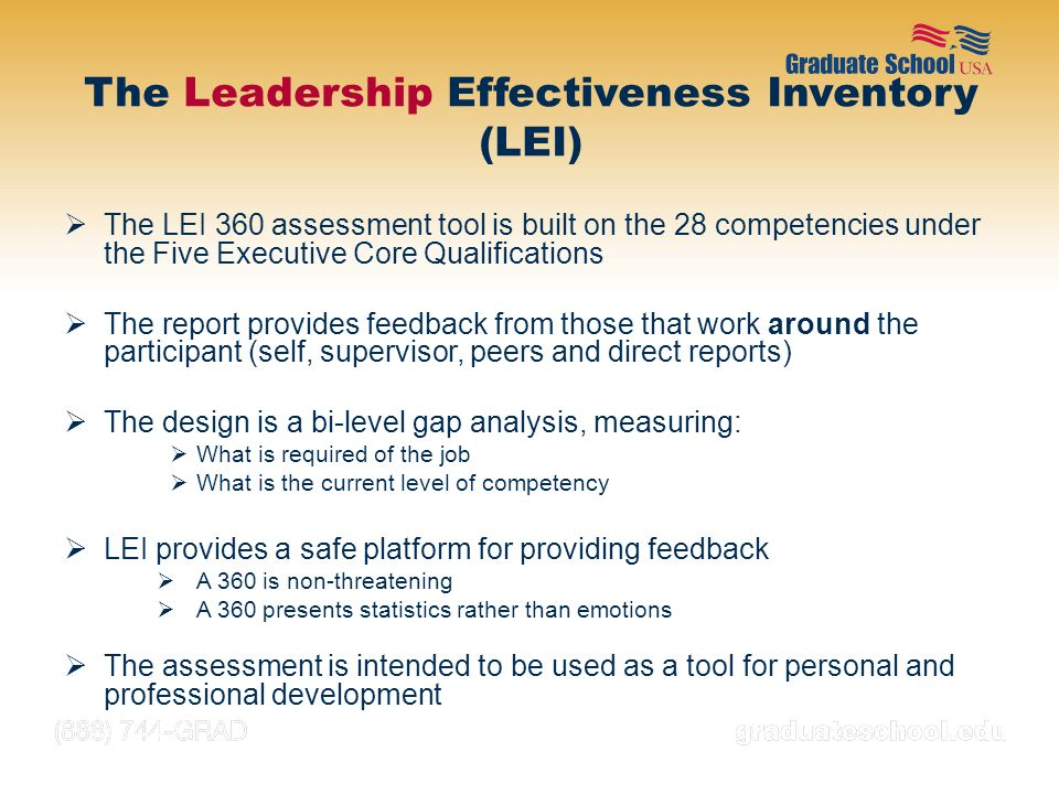 The Leadership Effectiveness Inventory (LEI)