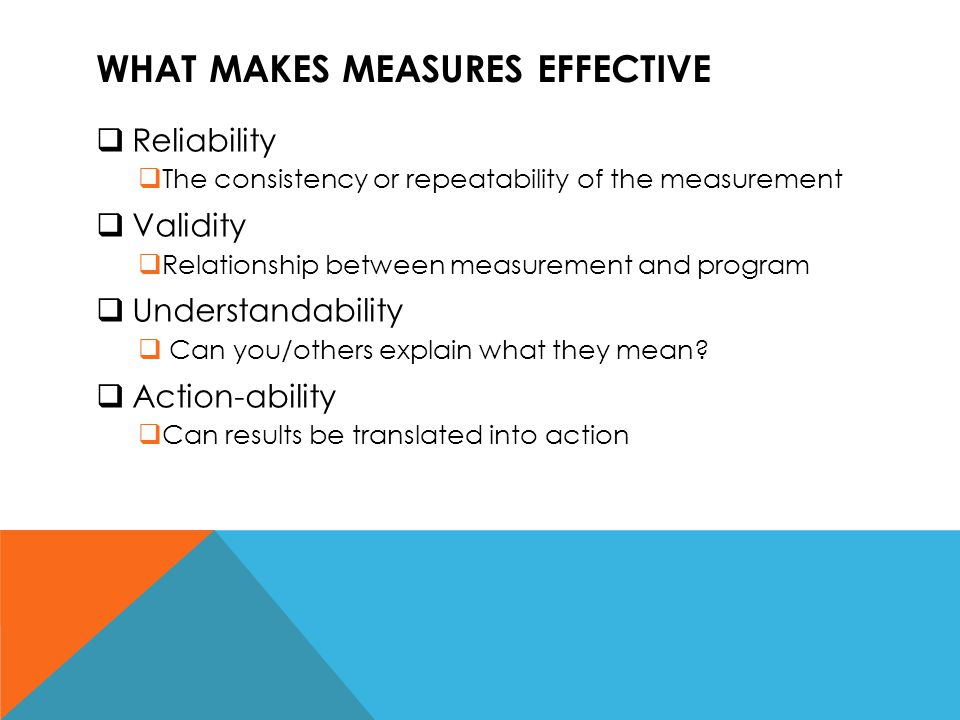 What makes measures effective
