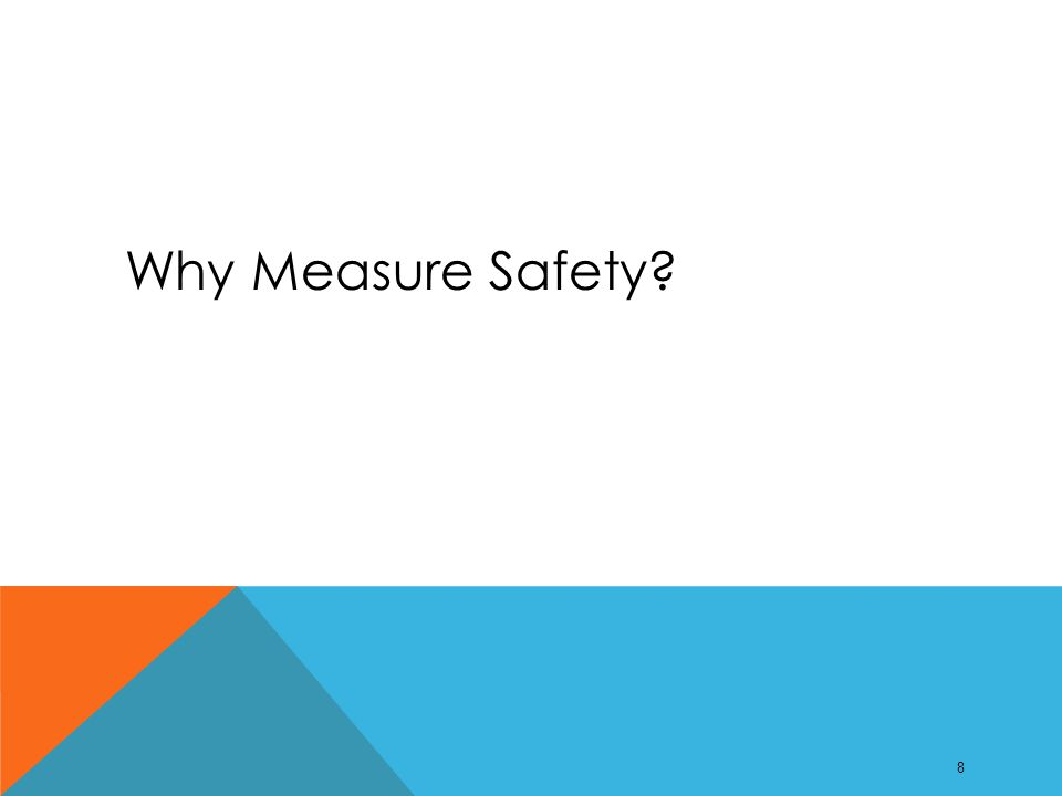 Why Measure Safety 8