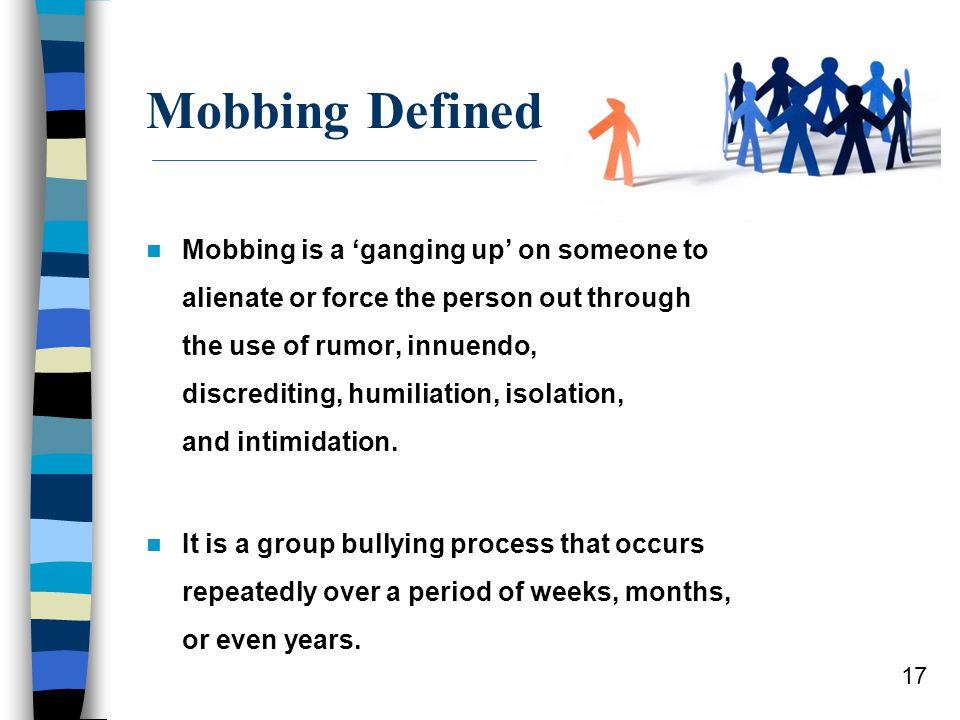 Mobbing Defined