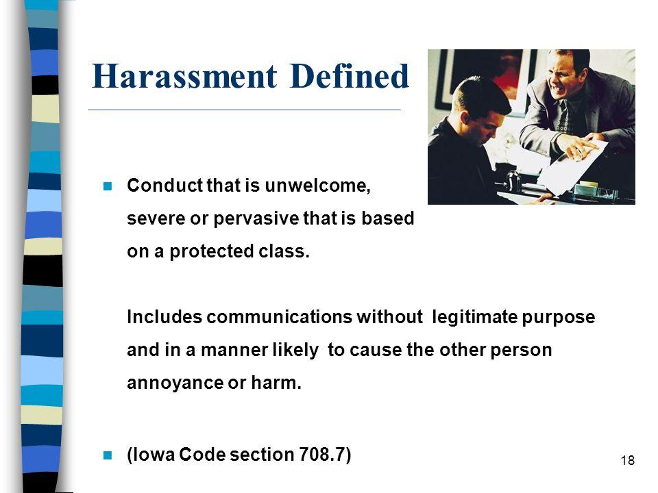Harassment Defined