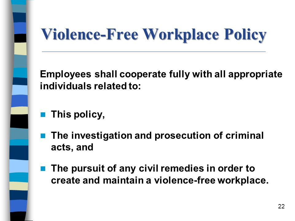 Violence-Free Workplace Policy