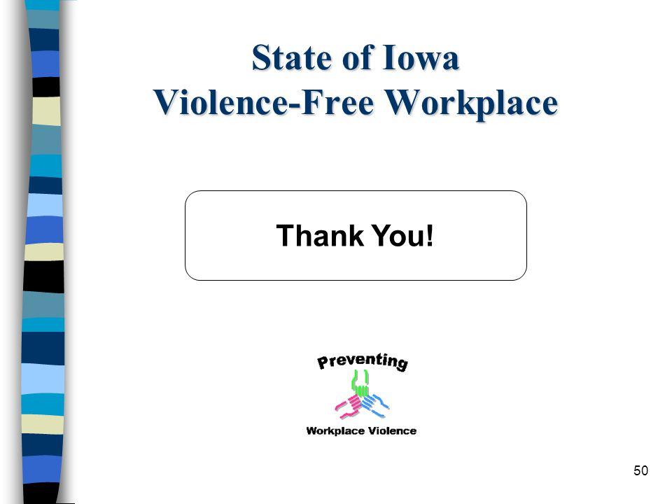 State of Iowa Violence-Free Workplace