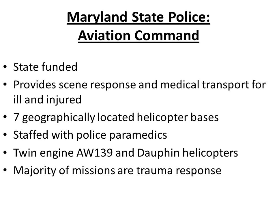 Maryland State Police: Aviation Command
