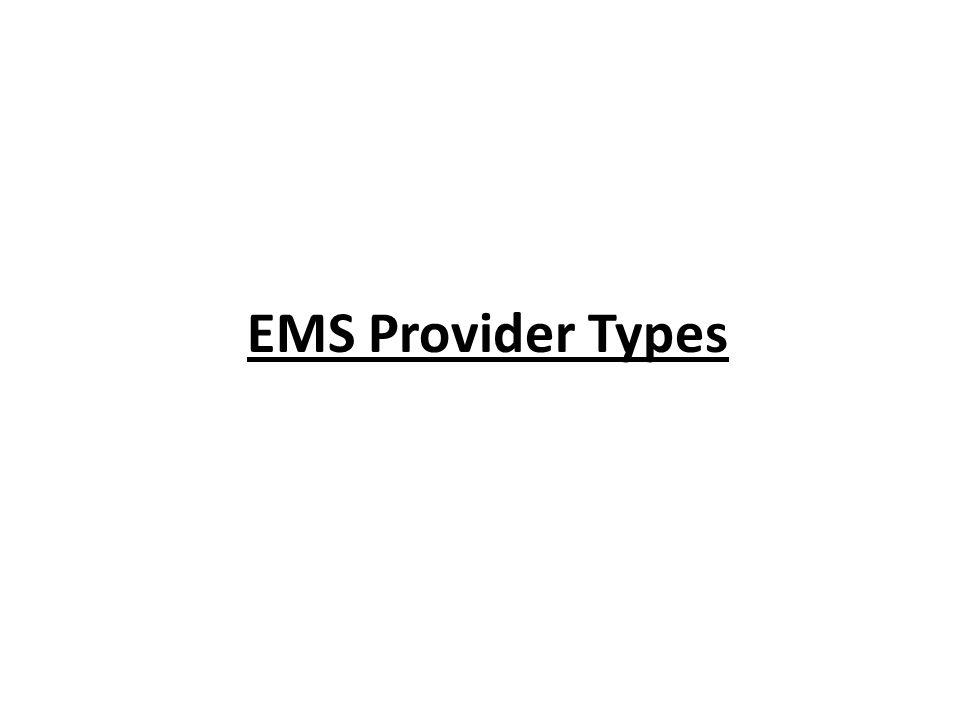 EMS Provider Types