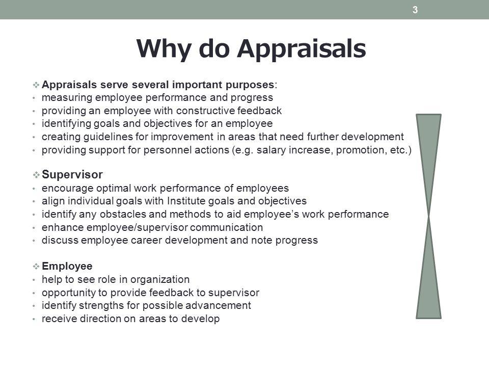 Why do Appraisals Supervisor