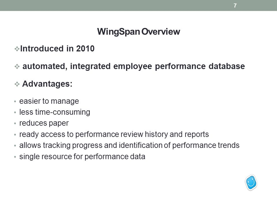 WingSpan Overview Introduced in 2010