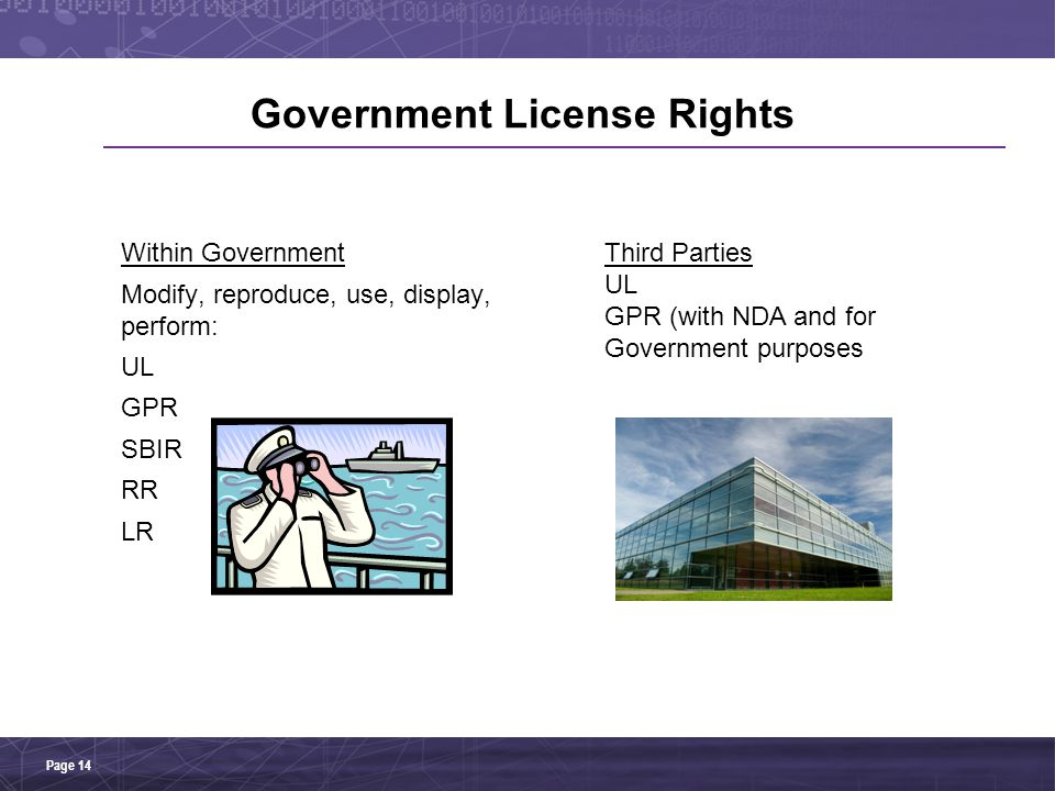 Government License Rights