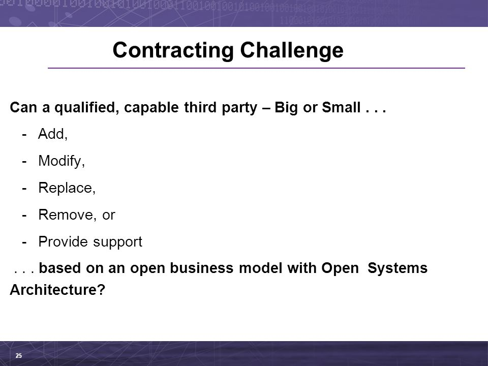Contracting Challenge