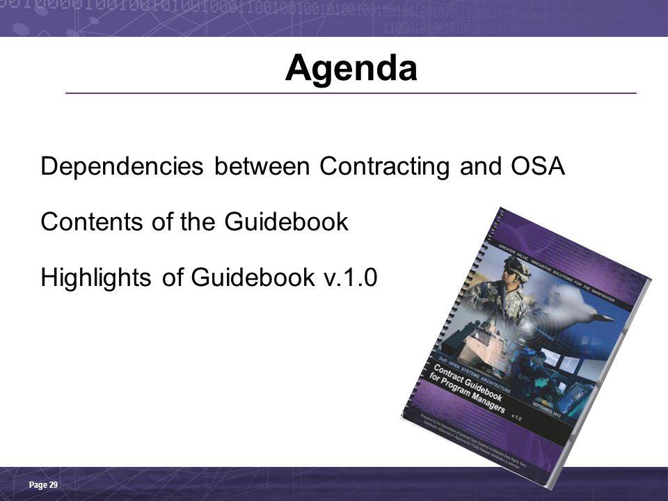Agenda Dependencies between Contracting and OSA