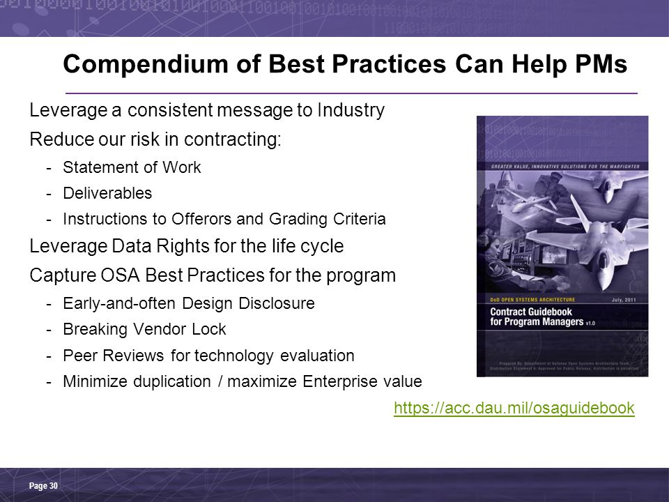Compendium of Best Practices Can Help PMs