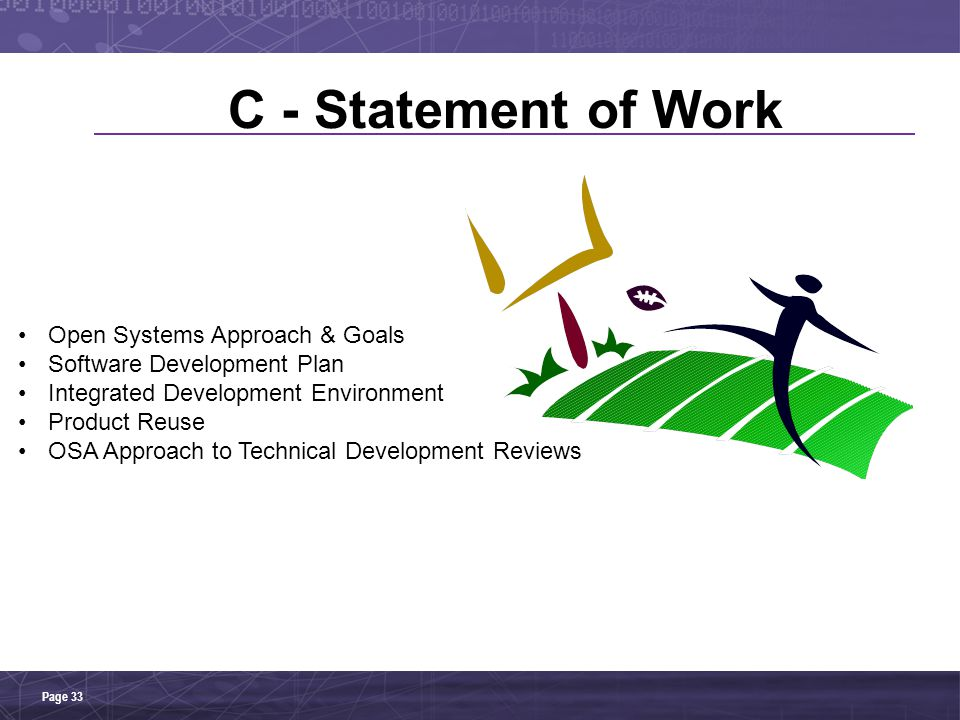 C - Statement of Work Open Systems Approach & Goals