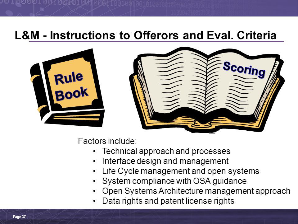 L&M - Instructions to Offerors and Eval. Criteria