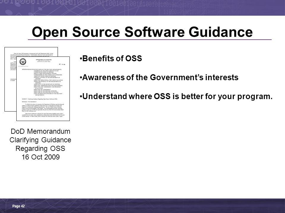 Open Source Software Guidance