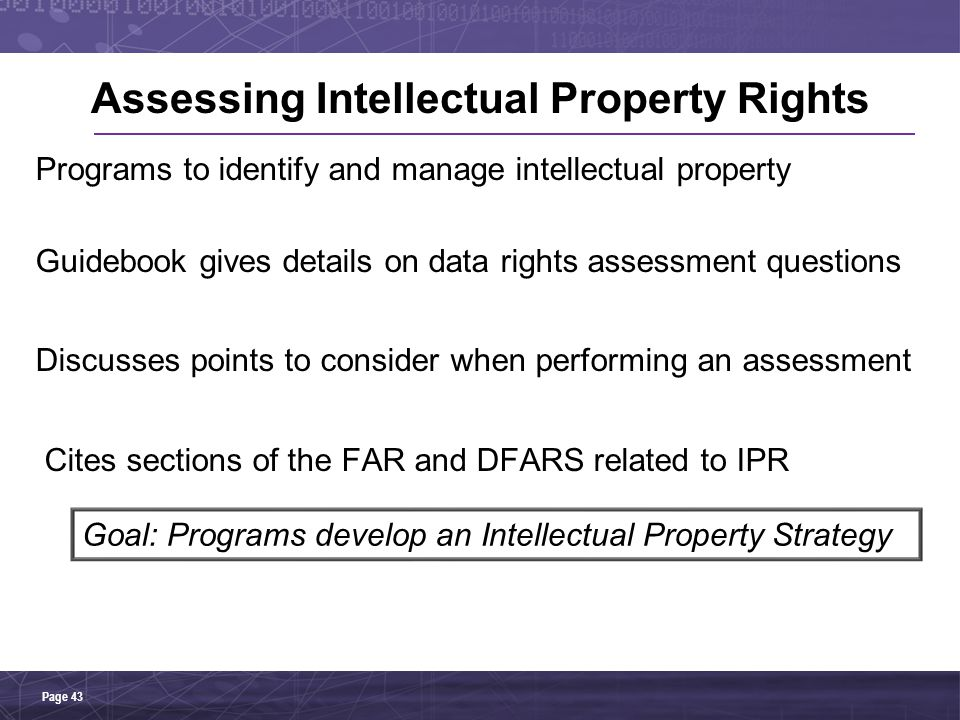 Assessing Intellectual Property Rights