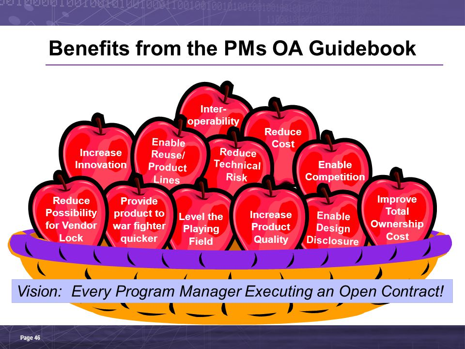 Benefits from the PMs OA Guidebook