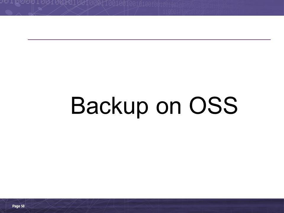 Backup on OSS